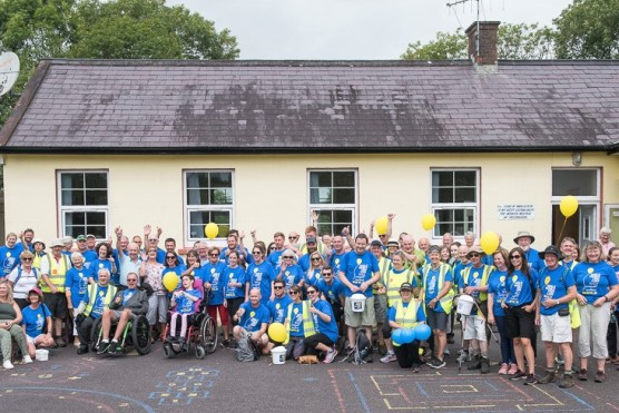 Walking with Fr Tony Coote in aid of Motor Neurone Research and supports