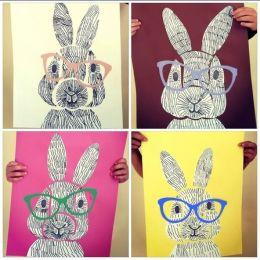 art four rabbits