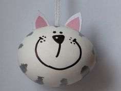 easter blown egg cheshire cat
