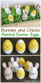 easter blown egg chicks