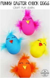 easter blown egg craft chicks