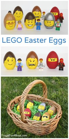easter blown egg lego people