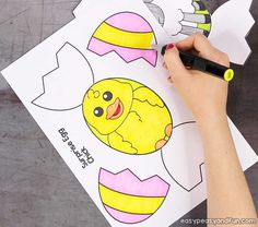 easter chick hidden in a card how to do it