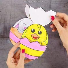 easter chick hidden in an egg card