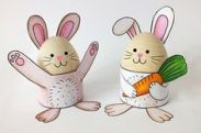 easter egg craft 2 bunnies