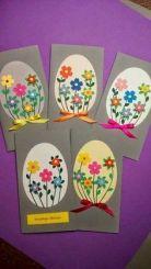 easter egg flower cards