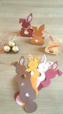 easter fold rabbit cards