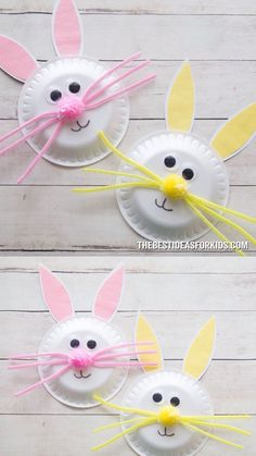 Easter palte rabbits