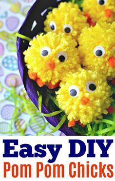easter pom pom baby chicks