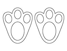 easter rabbit paws templates
