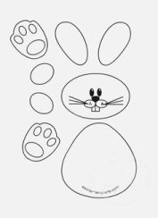 easter rabbit templates