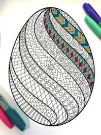 Easter swirl egg to draw