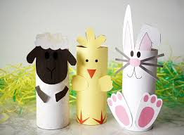 easter toilet roll animals