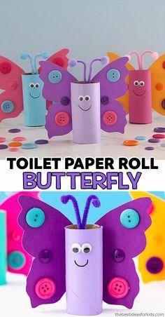 easter toilet roll butterflies