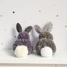 easter two pom pom rabbits