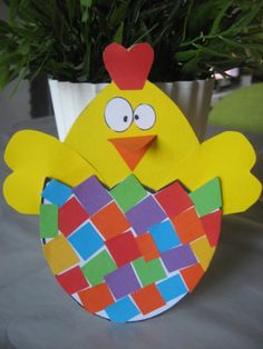 easter chick and egg mosaic